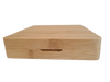 7 inch by 7.5 inch Bamboo Rolling Tray Box Set  with Dab Mat, 3 Wax Containers, Dab Tool and Magnetic Seal - CLOSED