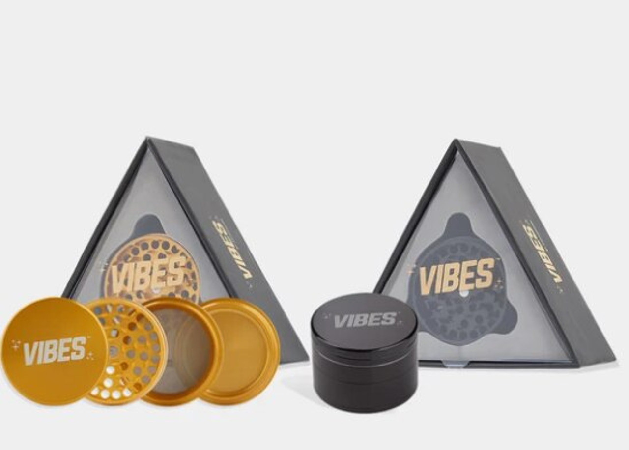 "Vibes X Aerospaced - Aluminum 4pc Grinder - 2.5"" (63mm) Assorted Colors"