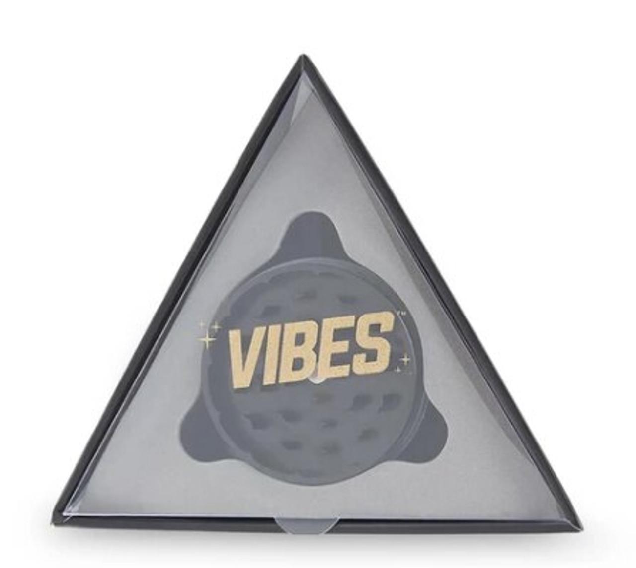 "Vibes X Aerospaced - Aluminum 2pc Grinder - 2.5"" (63mm) - Black"