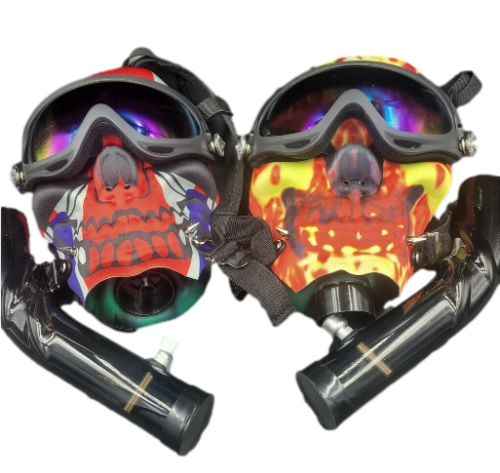 Full Face Skull Bong Masks Assorted Colors and Styles