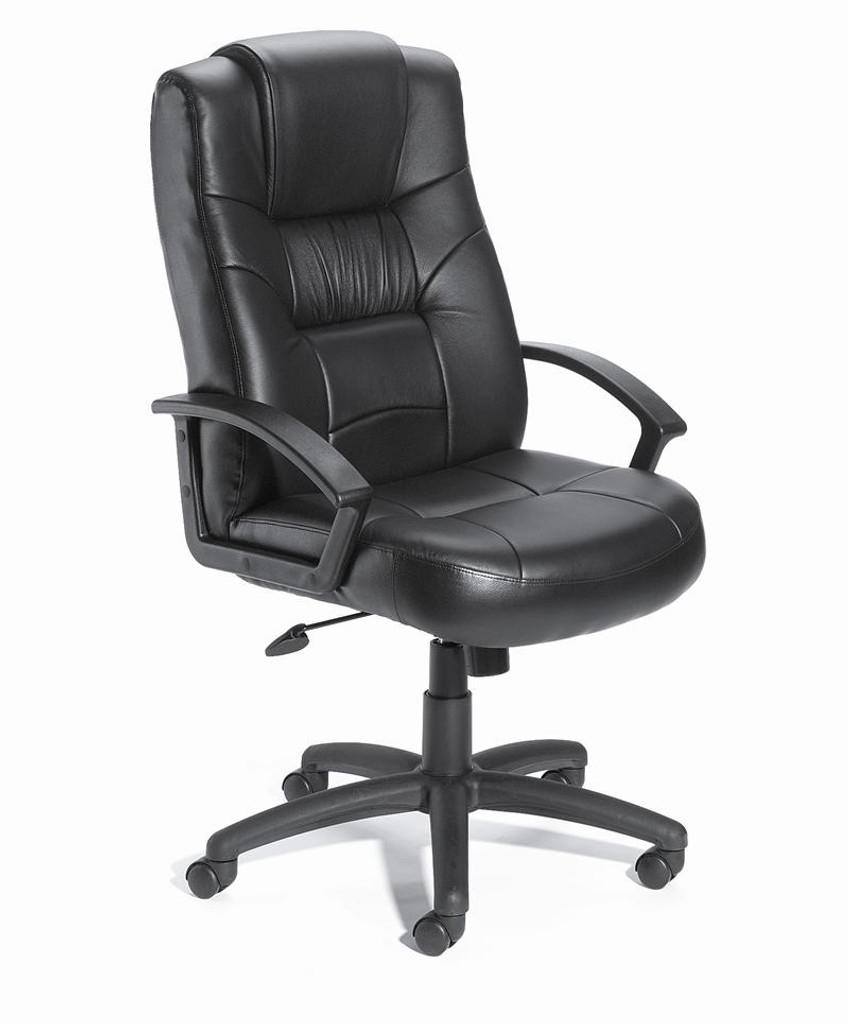 BOSS Chair B7502 EXECUTIVE LEATHER PLUS CHAIR W/KNEE TILT