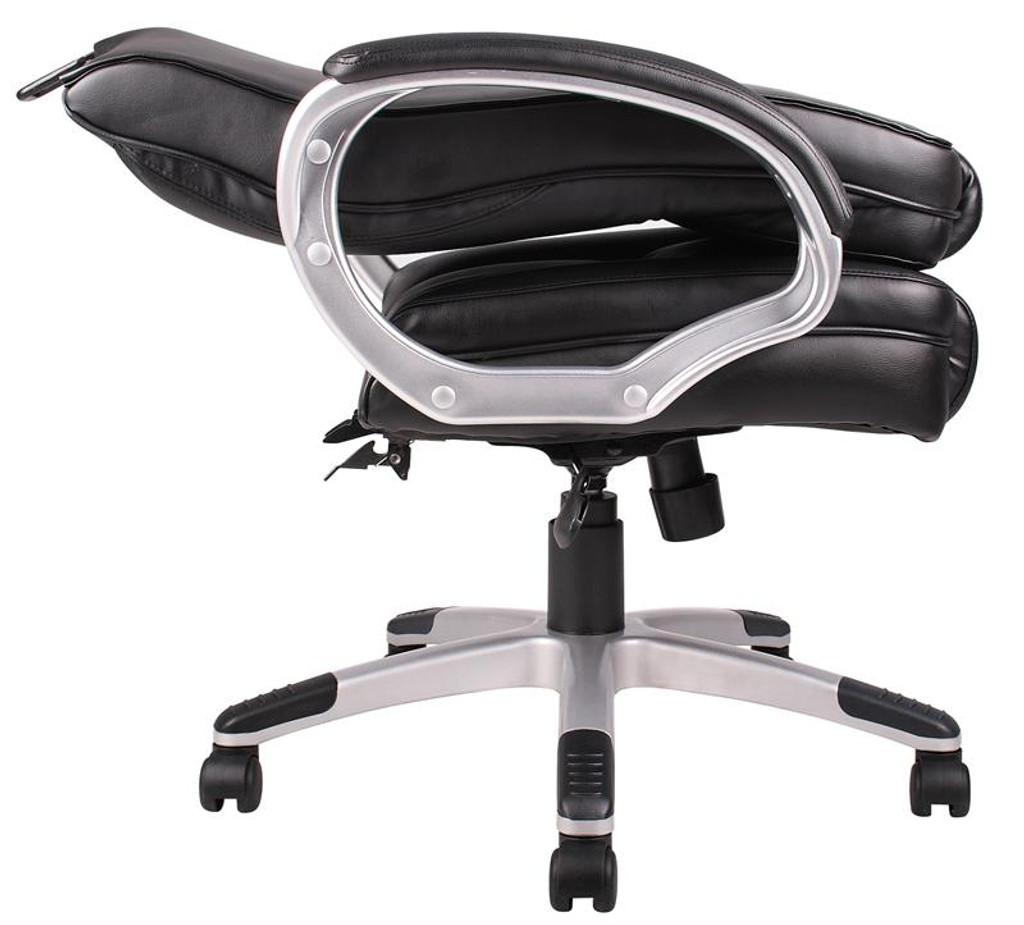 "BOSS Furniture ""NTR"" EXECUTIVE LEATHER CHAIR,TU618 ARM"