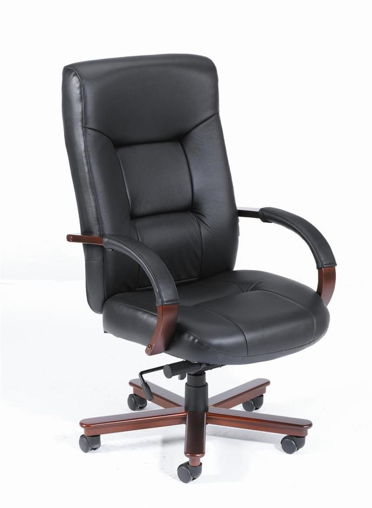 BOSS Furniture HI-BACK KNEE-TILE W/MAHOGANY FINISH