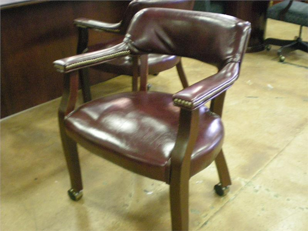 USED CAPTAINS CHAIRS OXBLOOD