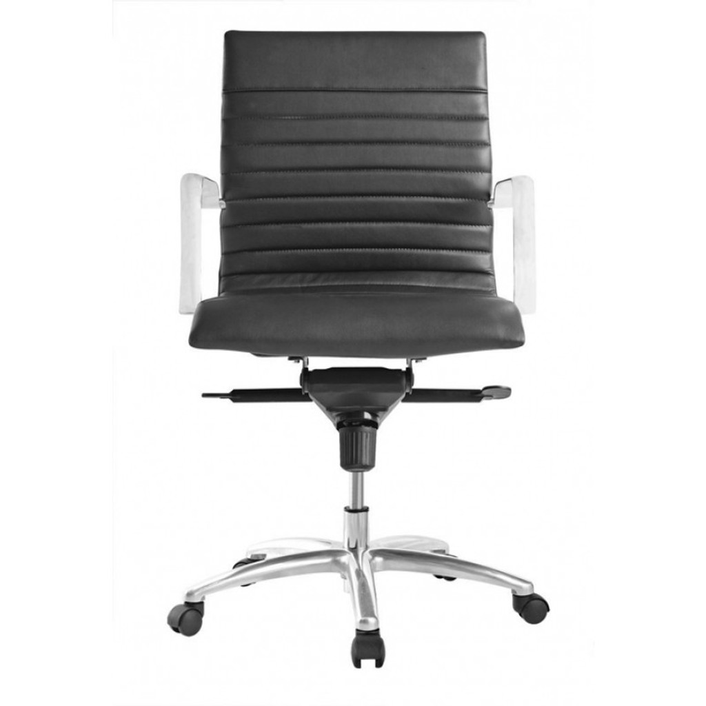 Zetti Mid Back Executive Black Leather Chair