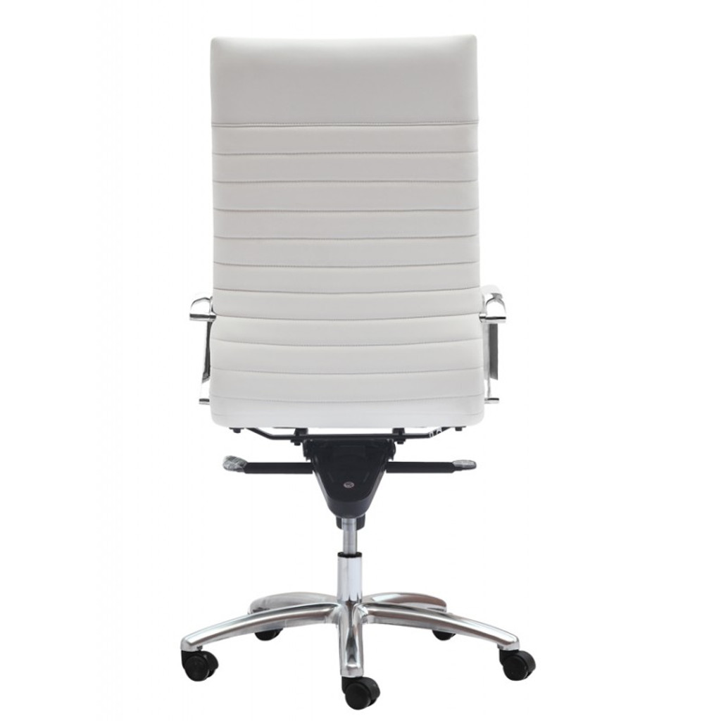 Zetti High Back Executive White Leather Chair