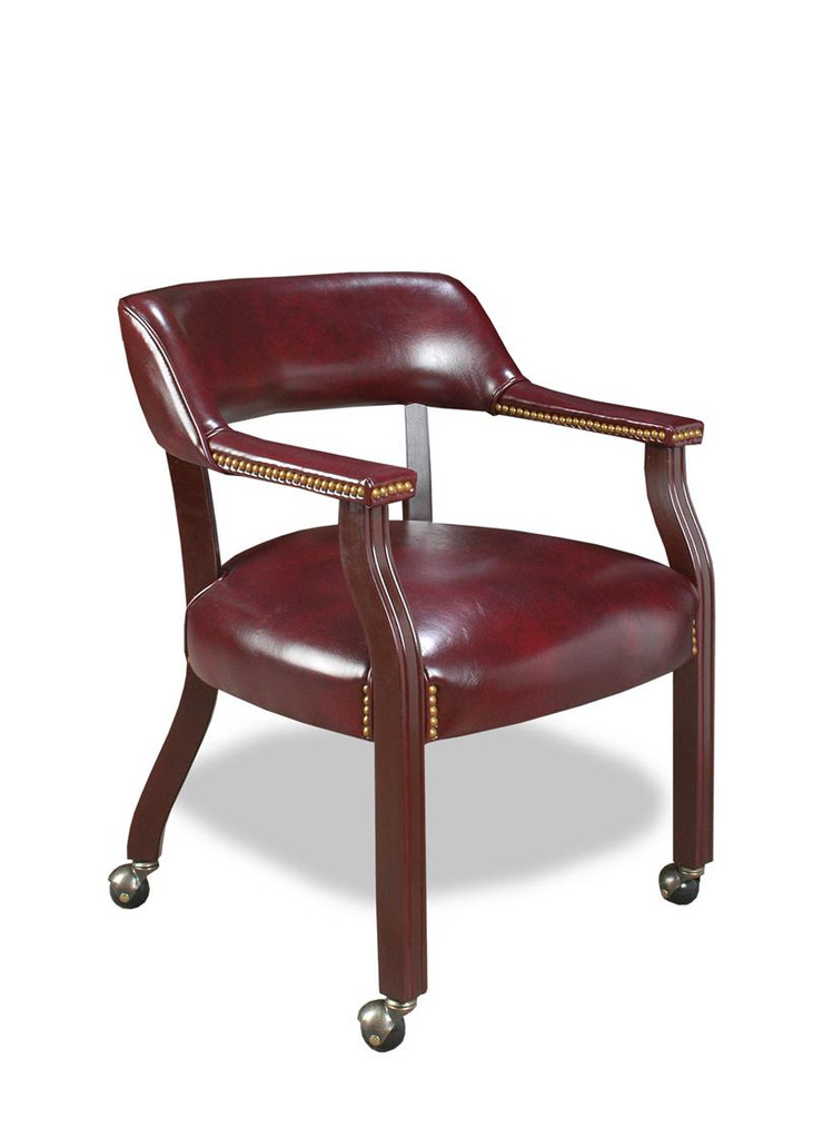 Captin's Chair OxBlood With Casters