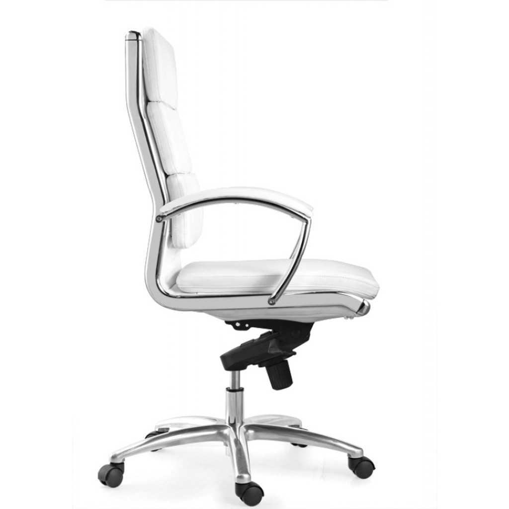 Livello High Back White Executive Leather Chair