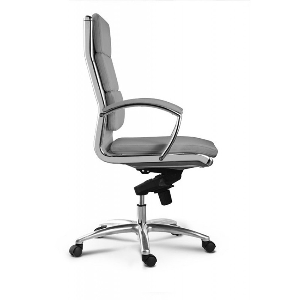 Livello High Back Grey Executive Leather Chair