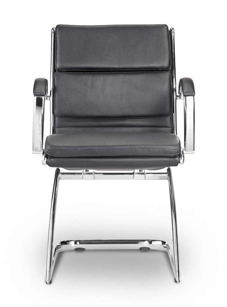 Livello Guest Chair Black Leather