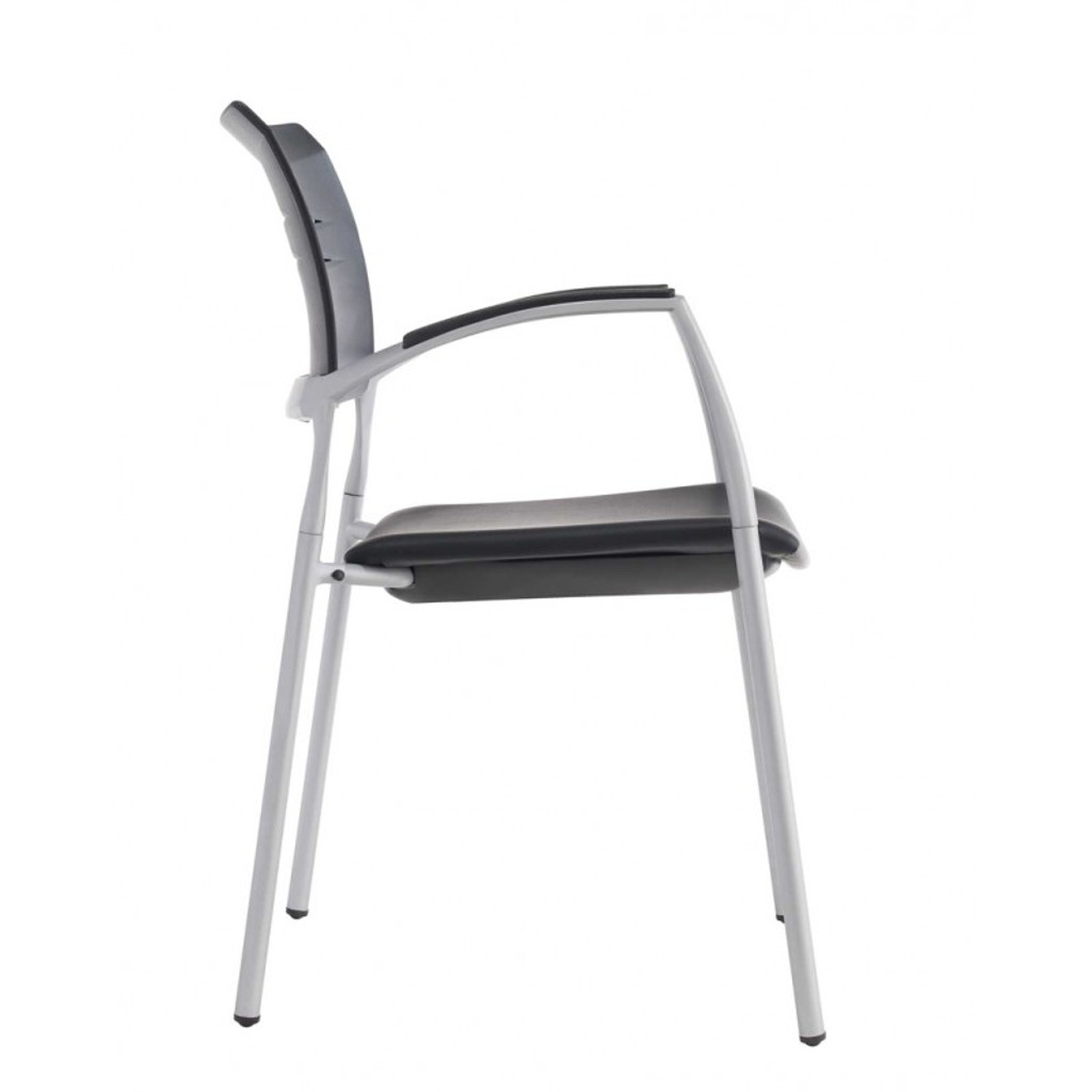 Slim Visitor Black Chair (Tungsten)