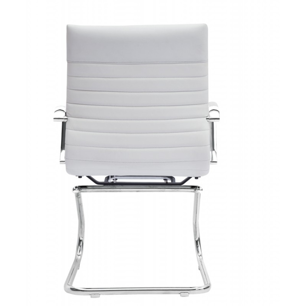 Zetti Visitor White Leather Chair