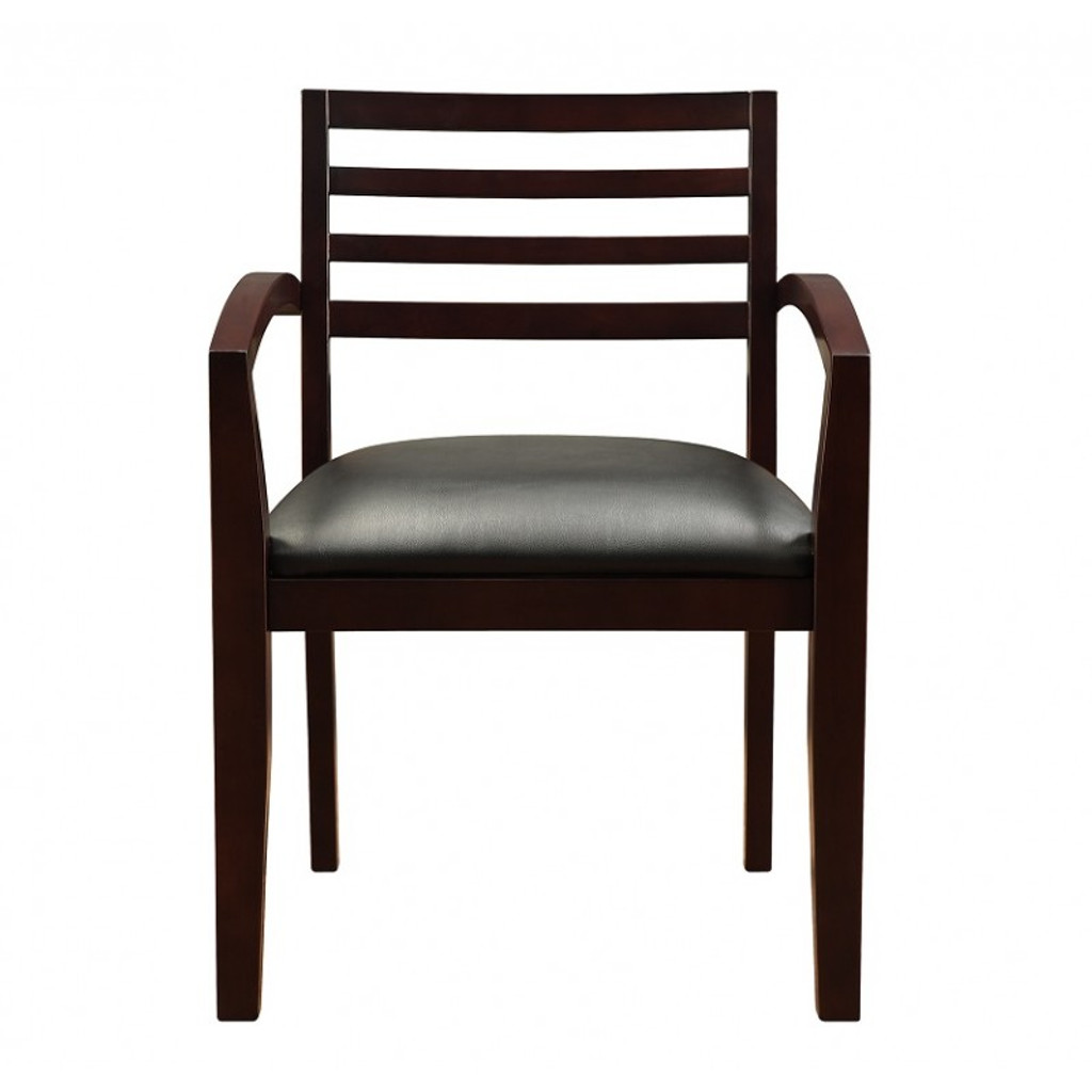 Fascino Espresso Wood Guest Chair