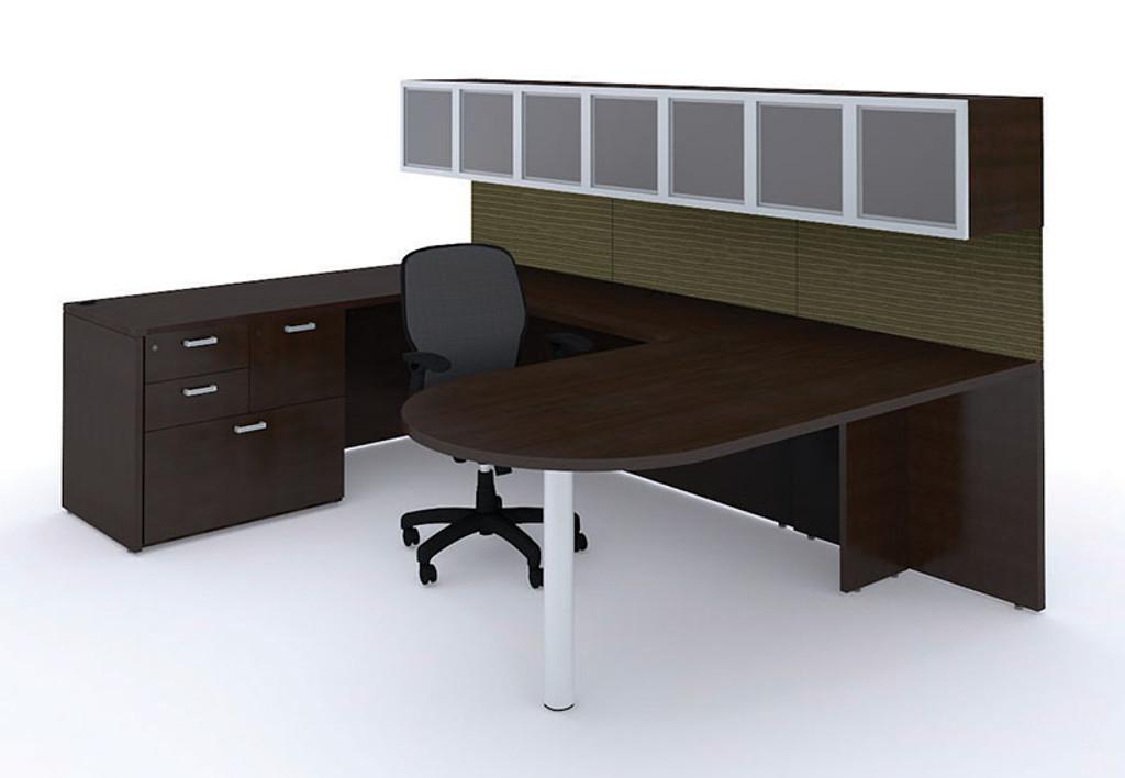 Cherryman Amber Bullet Shape U-Desk (without overheads)