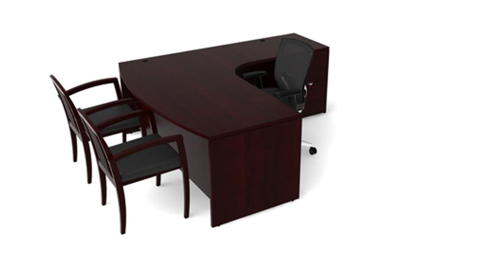 Cherryman Jade Bowfront L-Desk