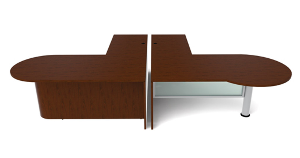 Cherryman Jade Bullet Shape L-Desk (Left & Right)