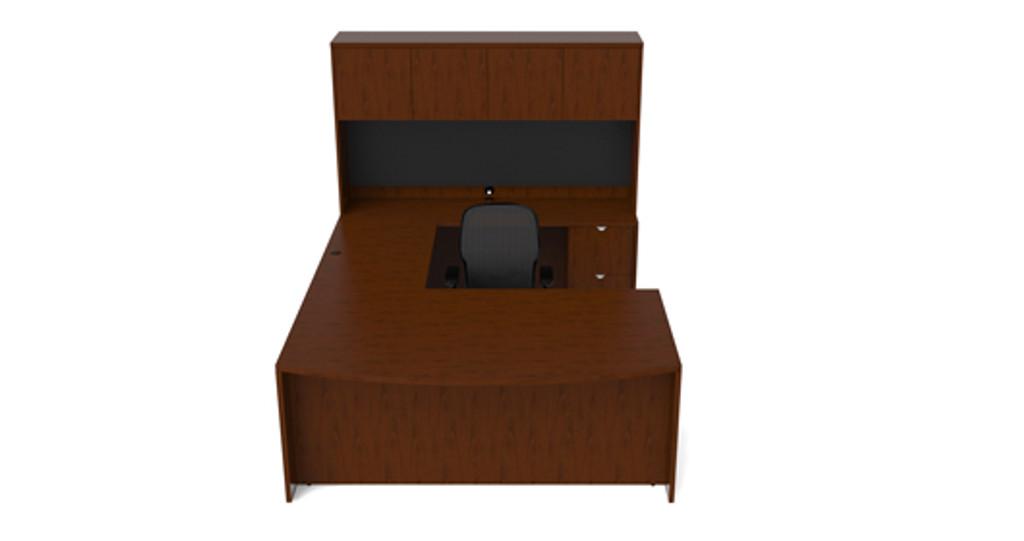 Cherryman Jade U-Desk Configuration (Optional Tackboard)