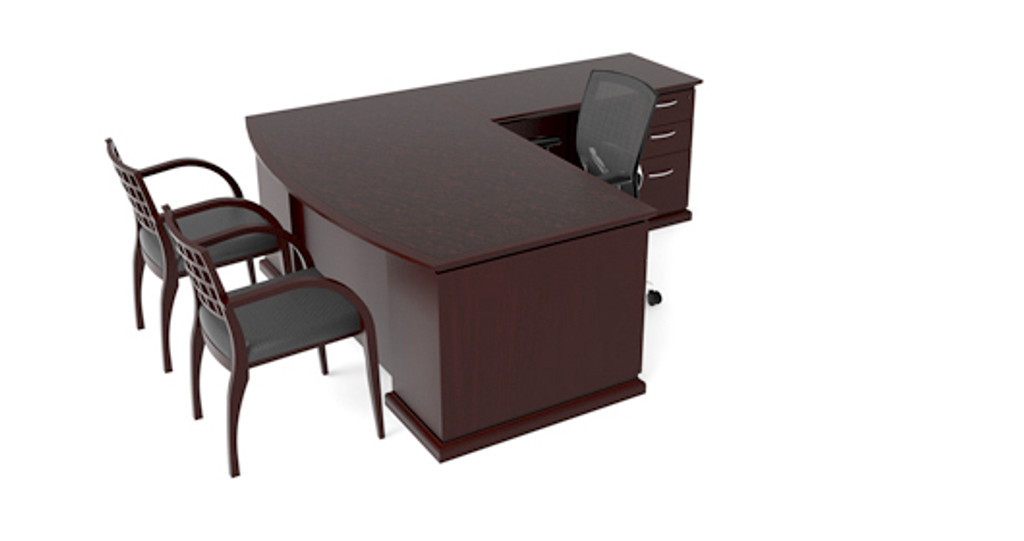 Cherryman Emerald Bowfront L-Desk (Left or Right)