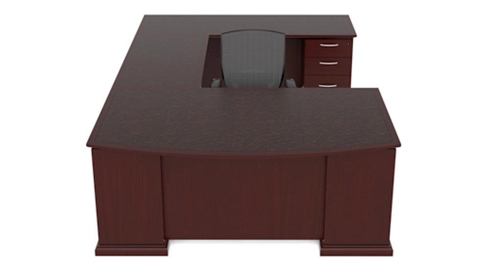 Cherryman Emerald Bowfront U-Desk