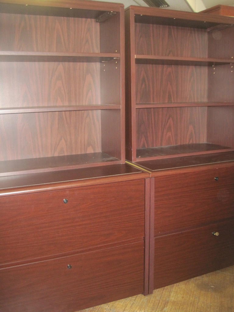 """National"" 2 drawer Lateral w/Hutch"