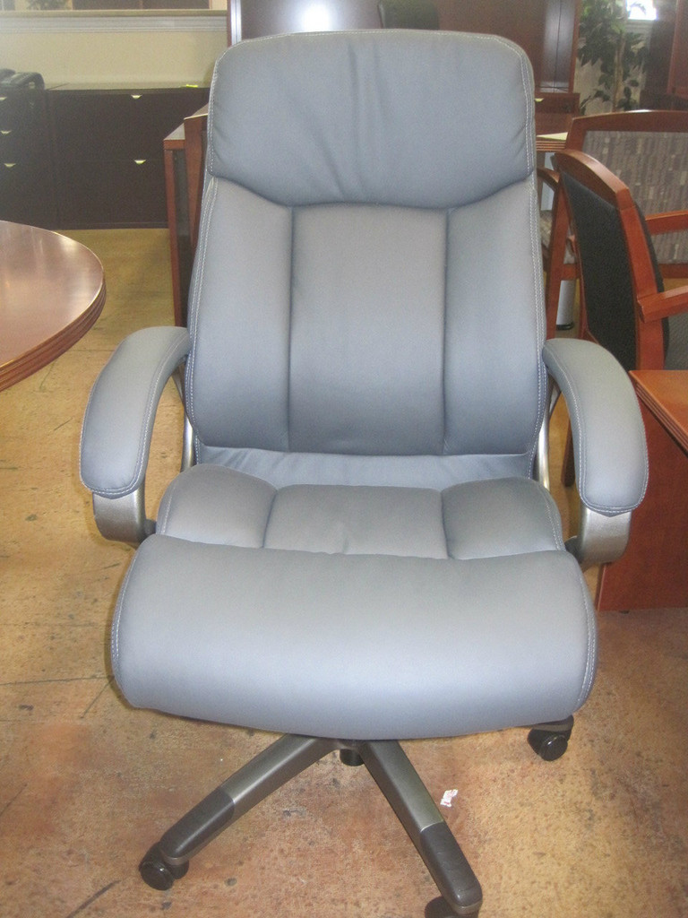 Gray Care Soft Leather Chair