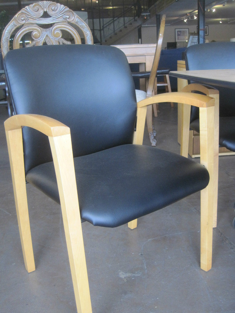 Black or Brown Mapple Wood Side Chairs