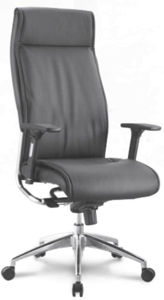 Alto Executive Series Leather High Back Adjustable Armrest