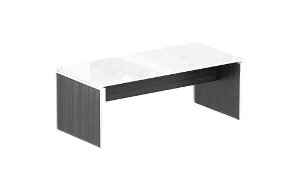 Coffee table – White glass top