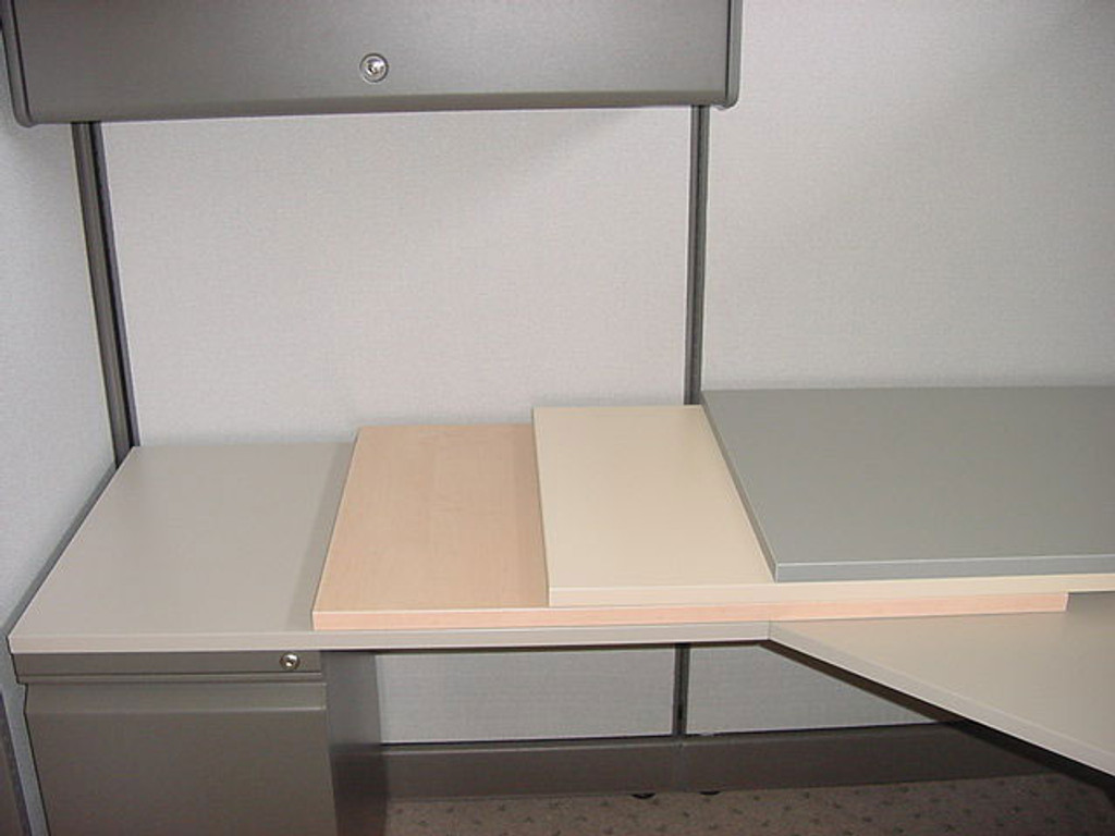 Cubicle furniture finishes