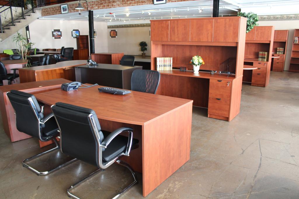 Bowfront desk