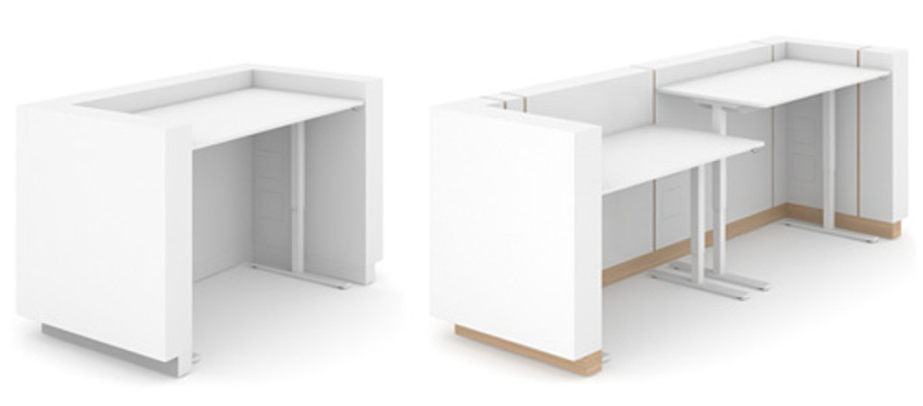 Reception desk ideas, reception desk height