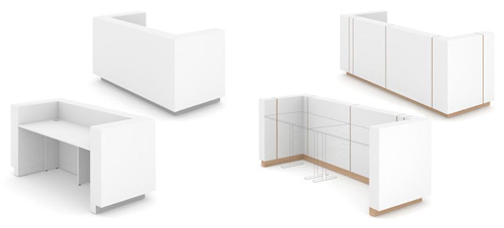 Reception desk configuration