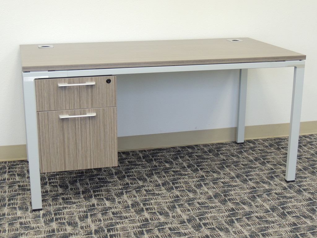Desk with hanging file