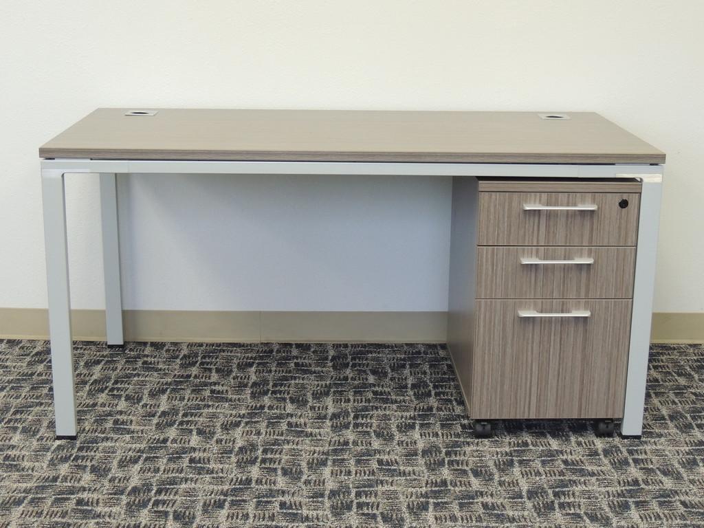 Desk with box/box file