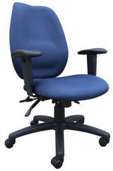BOSS Office Products BLUE HIGH BACK TASK CHAIR, BL-0020