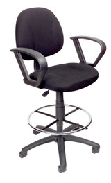 BOSS Office Chair B315-BK TASK CHAIR W/LOOP ARM AND FOOTRING