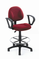 BOSS Office Chair B315-BY TASK CHAIR W/LOOP ARM AND FOOTRING