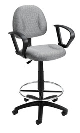 BOSS Office Chair B315-GY TASK CHAIR W/LOOP ARM AND FOOTRING