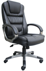 "BOSS Furniture ""NTR"" EXECUTIVE LEATHER CHAIR,TU618 ARM"