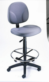 BOSS Office Chair GRAY FABRIC DARFTING STOOLS W/FOOTRING