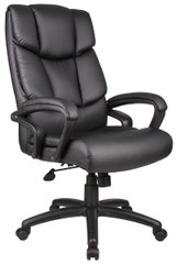 "BOSS Furniture ""NTR"" EXECUTIVE LEATHER CHAIR WITH KNEE TILT MECHANISM"