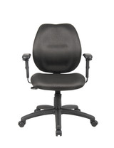 Black task chair with arms