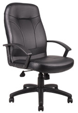 BOSS Office Furniture HIGH BACK LEATHER PLUS CHAIR
