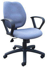 BOSS Office Products GRAY TASK CHAIR/W LOOP ARMS,BL-0023