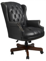 NEW 5 YR WARRANTY Chairs WINGBACK TRADITIONAL CHAIR, BLACK