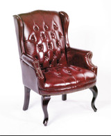 NEW 5 YR WARRANTY Chairs WINGBACK TRAD. CHAIR W/QUEEN ANNE L