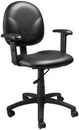 BOSS Furniture DIAMOND TASK CHAIR WITH ARM, BLACK CARESSOFT ,FP-0003
