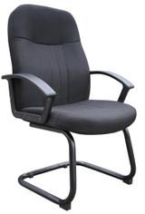 BOSS Office Furniture BLACK FABRIC GUEST CHAIR
