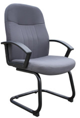 BOSS Office Furniture GRAY FABRIC GUEST CHAIR