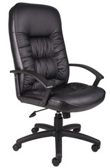 BOSS Chair HIGH BACK LEATHER PLUS(LF-0005) CHAIR W/SPRING